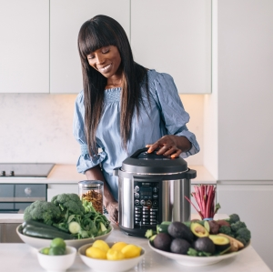 Lorraine Pascale attends Exclusively Shows to promote her Collaboration with Haden.